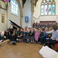 Pre-School and Reception singing their song