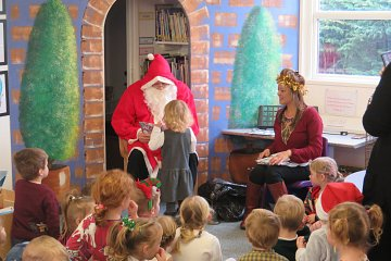Father Christmas in Pre School